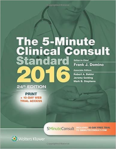 The 5 Minute Clinical Consult Standard 2016 Print 10 Day Web