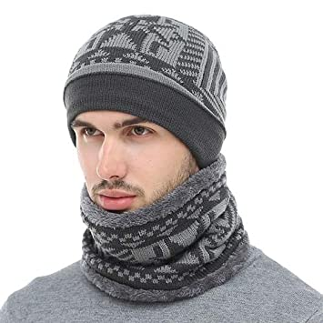 8fa1aef1 Amazon.com: HOKUGA 2018 Skullies Beanies Winter Knitted Hat Beanie ...