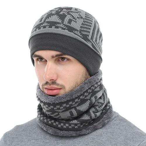 62168bfe67d Amazon.com  HOKUGA 2018 Skullies Beanies Winter Knitted Hat Beanie Scarf  Men Winter Hats For Men Women Caps Gorras Bonnet Mask Brand Hats  Beauty