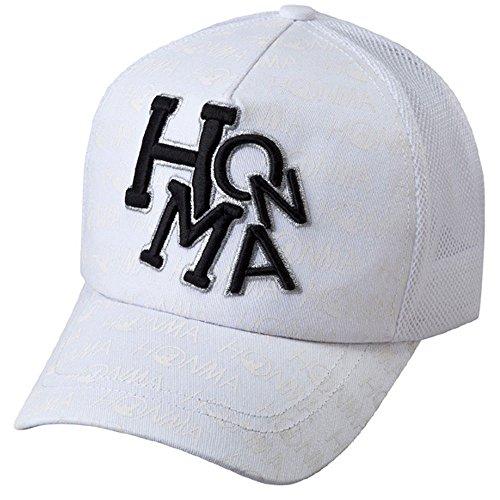 本間新しい731 – 419603ホワイト調整可能メッシュゴルフ帽子/キャップ