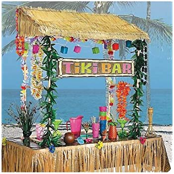 Amscan Table Top Tiki Bar Hut, 52 In High53 In Wide23 In Deep