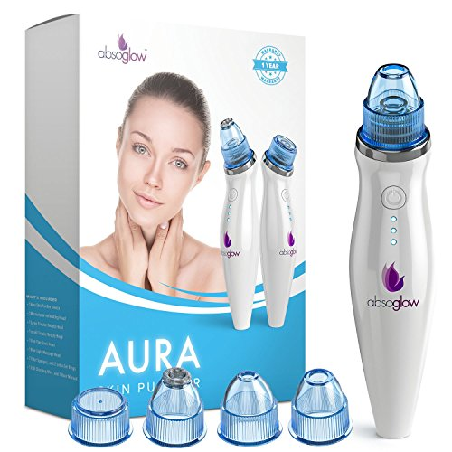 Cheap Aura Comedo Suction Microdermabrasion Blackhead Remover Vacuum Suction Facial Pore Cleaner, Rechargeable Skin Peeling Machine By Absoglow