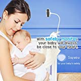 Video Baby Monitor with Crib Mount – Two-Way Talk, Infrared Night Vision, Portable 1080p WiFi Cam with App and Audio Mode for Night Nursery – Unlimited Range with Camera Holder Easy Set-up by Safeby