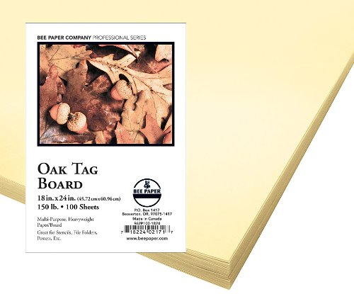 Bee Paper Oak Tag Board Pack, 18-Inch by 24-Inch, 100 Sheets per Pack by Bee Paper Company (Image #1)