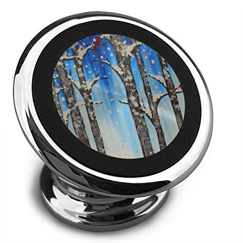 (Magnetic Car Phone Snow Straight Tree Mobile Bracket 360 Degree Rotation from Dashboard)