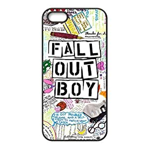 Fall Out Boy Design Solid Rubber Customized Cover Case for iPhone 5 5s 5s-linda415