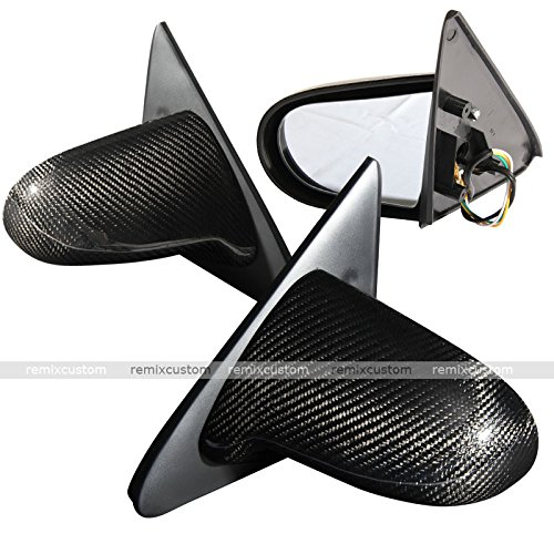 Remix Custom for 96-00 Honda Civic 2/3DR EK Coupe Hatchback Spoon Carbon Fiber Power Side Mirrors