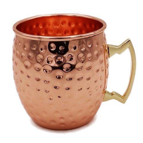 UPC 647166000101, Hammered Finish Moscow Mule Mug,100% Pure Copper/18oz (Set of 8 Mugs)