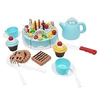 D DOLITY 54xJuguete De Cocina Torta De Frutas Con Tazas De Postres De Imitación Juego De Imaginación Para Niños Bebés