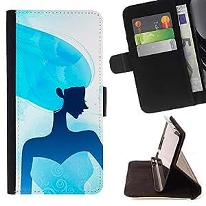 Kingstore / - Una Señora azul sobre fondo blanco - Samsung Galaxy A3
