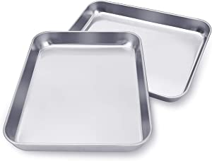 KnmyLife Small Toaster Oven Tray,Stainless Steel Cookie Sheet for Toaster Oven,7