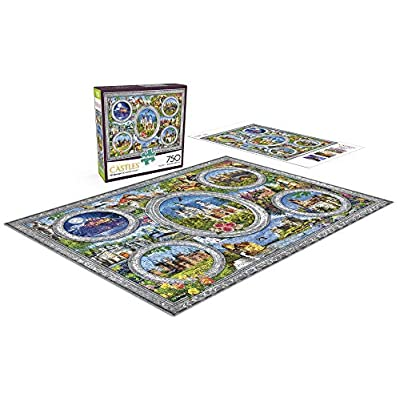 Buffalo Games - Majestic Castles - Enchanted Frame - 750 Piece Jigsaw Puzzle: Toys & Games
