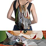 drawstring bag Mosaic Little Cute Cat easy to carry