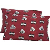 NCAA Cotton Sateen Pillow Case (Set of 2) NCAA Team: Mississippi State