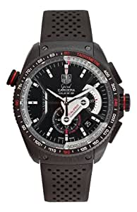 TAG Heuer Men's CAV5185.FT6020 Grand Carrera Automatic Chronograph Black Dial Watch