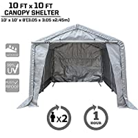 kdgarden 10x10x8 Ft. Portable Shelter Heavy Duty Canopy Storage Tent