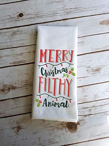 Funny Christmas Kitchen Bathroom Towel Gift Home Alone