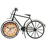 Cheap NEOTEND Handmade Vintage Bicycle Clock Bike Mute Black Table Clock Black Color