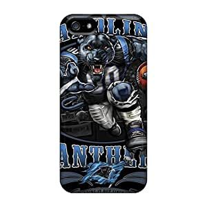 Marycase88 Iphone 5/5s Protective Hard Phone Cases Allow Personal Design Colorful Carolina Panthers Series [naG8498Pnse]