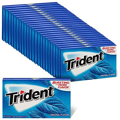 Trident Original Flavor Sugar Free Gum, 24 Packs of