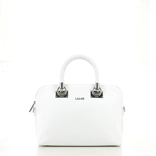 Borsa shopping Liu Jo m anna bianca  Amazon.it  Scarpe e borse d1697f8f34c