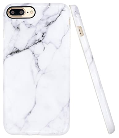 A Focus Case For Iphone 8 Plus Marble Case Iphone 7 Plus Case Imd Design White Marble Pattern Stone Texture Soft Flexible Tpu Slim Fit Cover Case