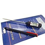 Souarts Meat Thermometer Display Needle Probe Cooking Thermometer with Super Long Probe for Kitchen Cooking BBQ Grill Smoker Fry Food Milk Yogurt
