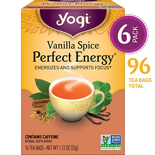 Yogi Tea - Vanilla Spice Perfect Energy - Energizes and Supports Focus - 6 Pack, 96 Tea Bags ()