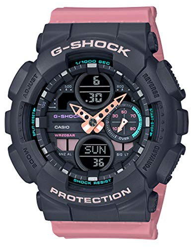 Ladies' Casio G-Shock S-Series Pink Resin Band Watch GMAS140-4A