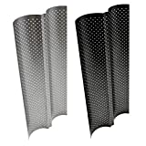 2 Grooves Wave French Bread Baking Tray Carbon