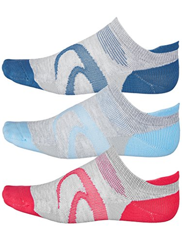 Asics Ankle Socks - ASICS Women's Intensity Single Tab Socks (3 Pairs), Heather Grey Assorted, Large