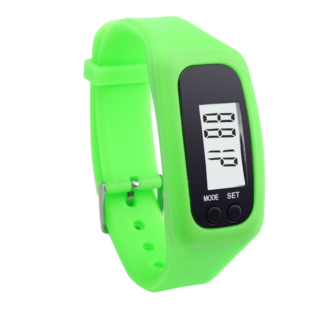 Start Digital LCD Light Portable Waterproof Pedometer Multifunction for Run Step Walking Distance Calorie Counter (2018 Green)