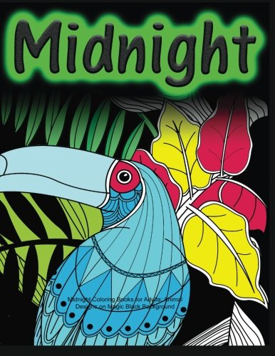 Midnight Coloring Books Adults Background product image