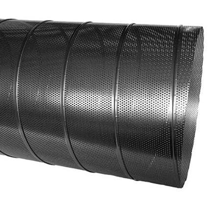1 m de largo 3,0 mm de di/ámetro Conducto en espiral perforado galvanizado chapa perforada de 80 a 300 mm de di/ámetro
