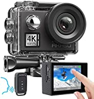 AKASO V50 Elite 4K 60fps Touch Screen WiFi Action Camera Voice Control EIS 40m Underwater Waterproof Camera Ad