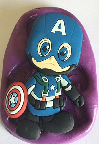 CAPTAIN AMERICA silicone mould.mold.moulds.marvel super hero.cake topper.baking. Carl Watson