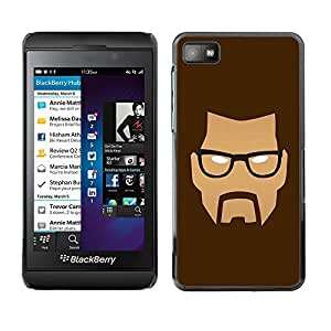 GagaDesign Phone Accessories: Hard Case Cover for Blackberry Z10 - Mad Face