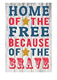 Home of the Free Because of the Brave Patriotic Rustic Metal Sign 12″ x 8″ Review