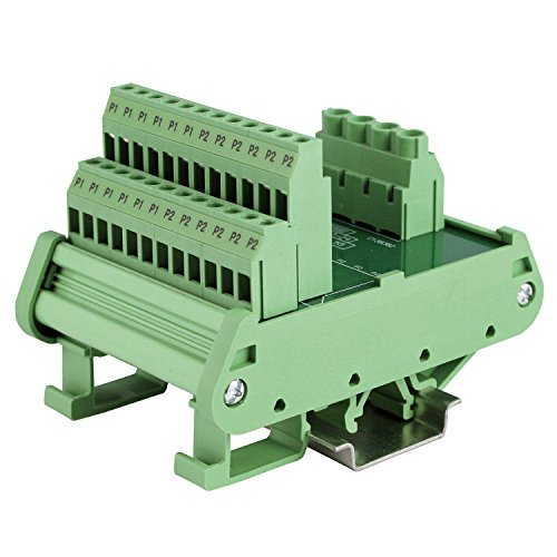 ASI471078 DIN Rail Mounted Power Distribution Module, Screw Clamp, 250 Vac/dc, 30 A up to 12 DC Circuits