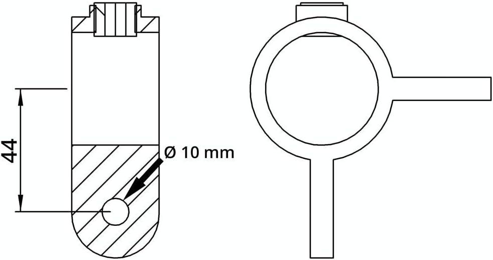 feuerverzinkt Temperguss galvanisiert beidseitig inkl /Ø 60,3 mm Gelenk-St/ück//Gelenk-Verbinder Schrauben Fenau Rohrverbinder 90/°