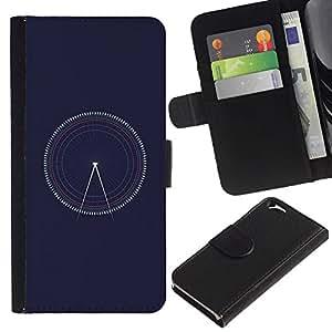 For Apple Apple iPhone 6(4.7 inches),S-type® Time Navy Blue Architect - Dibujo PU billetera de cuero Funda Case Caso de la piel de la bolsa protectora