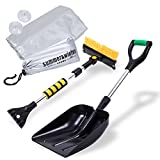 Por Plus Winter snow shovel set, snow brush And scraper, car windscreen protector
