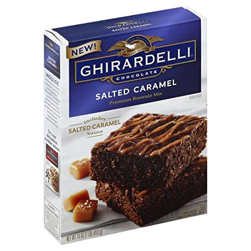 Ghirardelli Chocolate Salted Caramel Brownie Mix 16 oz ( 2 Pack)