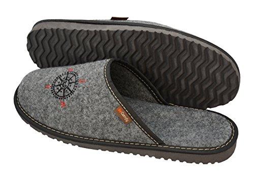 Pantoufles Intérieure Profilé Gris léger Insert Semelles Hommes Caoutchouc Semelle Avec Chaussures Des Windrose Becomfy Feutre Ultra En Mz20 Pour Profilées option 1Rd6q6fw