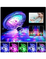 Simbassänglampor, LED-diskokoljus, glödande flytande poolljus vattentät babybadleksak, batteridriven 7 belysningslägen badtunna spa-lampa