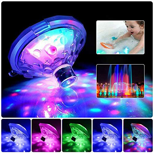 Zwembad verlichting, Led Disco Licht, Glow Floating Pool Light Waterdicht Baby Bad Toy, Batterij aangedreven 7…