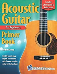 The Acoustic Guitar Primer Book for Beginners with Online Video & Audio Access features step by step instruction taking the beginner through the basics of learning how to play the guitar, including rhythm and lead playing. The student sta...