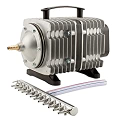 Widely used to provide oxygen in aquariums, fish farms & hydroponic systems. Includes chrome air manifold, ranging from four to Sixteen outlets. Cylinders & pistons are made of excellent materials, making the pump strong, durable. Con...