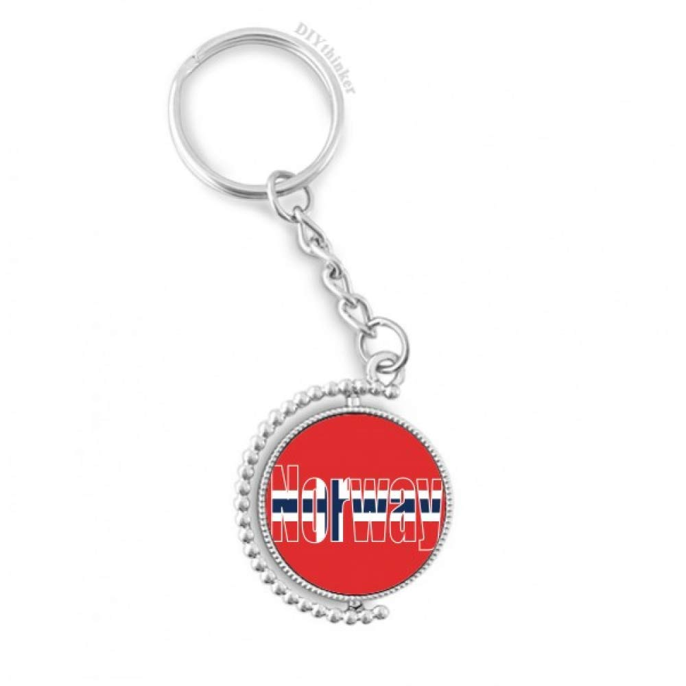 DIYthinker Bandera de Noruega País Nombre rotativo Titular ...