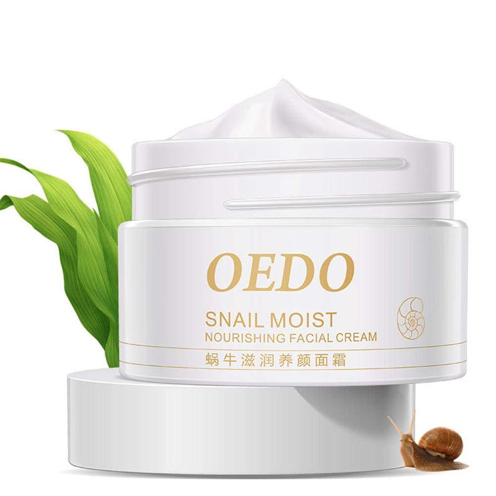 Purebesi Crema nutritiva Facial Cara regeneradora,40g Snail Moisturizing Face Cream Expert Intensive profundamente Regeneradora Antienvejecimiento – Mejora la Textura de la Piel y suaviza la Piel